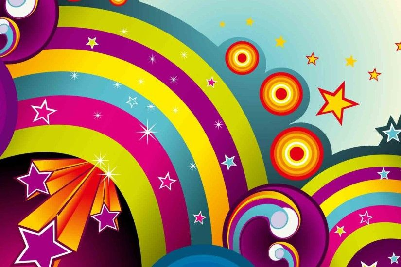 1920x1080 Cool vector Starlight and rainbow backgrounds wide  wallpapers:1280x800,1440x900,1680x1050 -