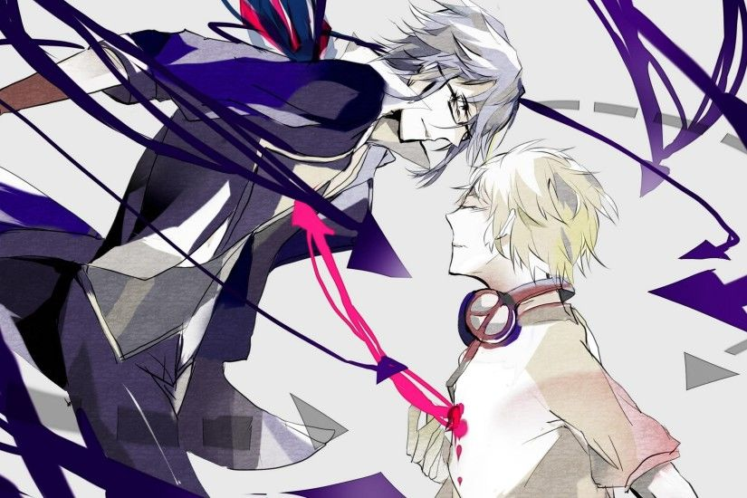 Anime - K Project Anime Boy White Hair Short Hair Glasses Headphones  Wallpaper