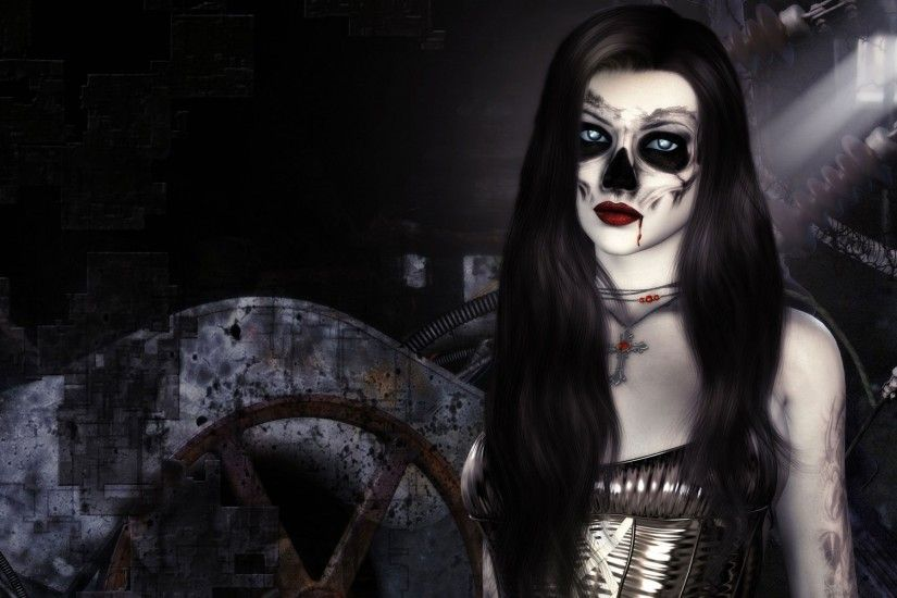 Photo Collection Dark Evil Woman Wallpaper