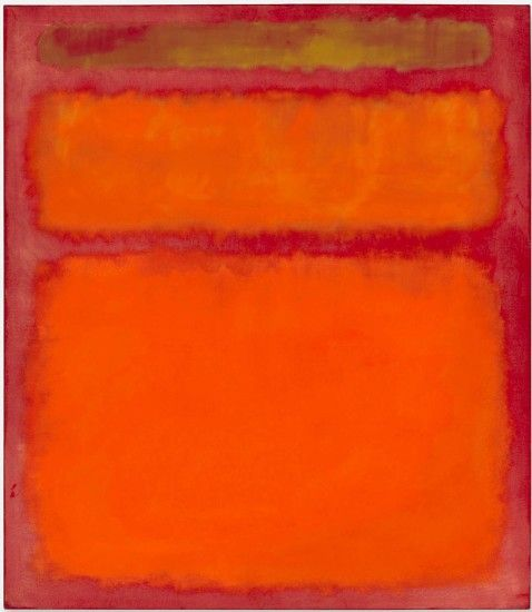 This is Mark Rothko's painting entitled 'Orange, Red, Yellow'. The piece  sold for $86,882,500 at Christies auction house nearly a year ago today.