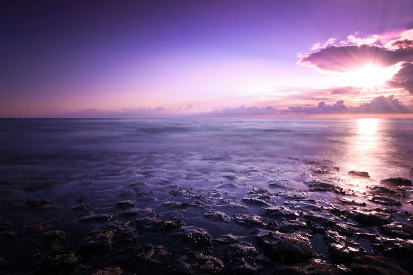 Purple Sunset Background 23189