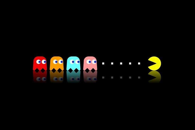 Pac Man, Retro Games, Video Games, Minimalism Wallpaper HD