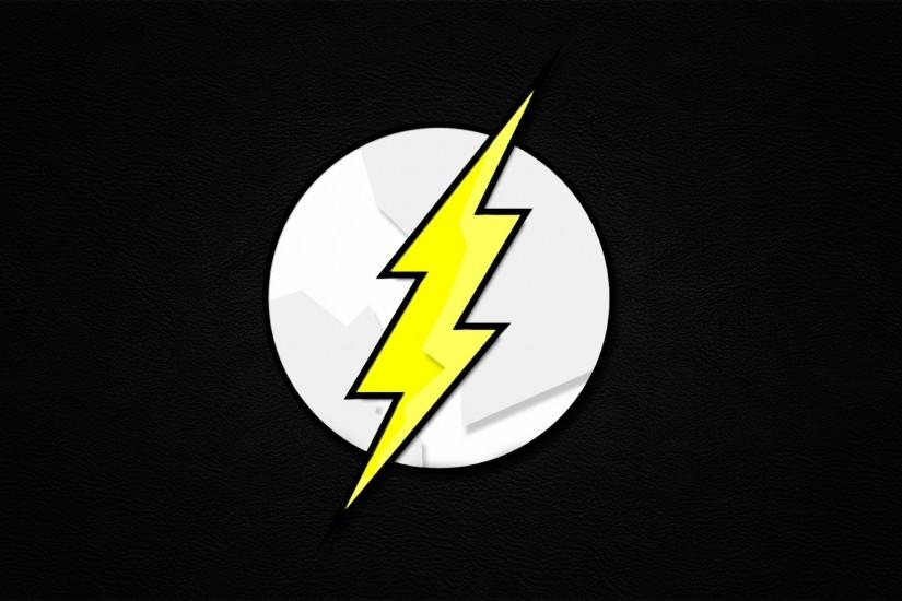 Minimalistic Comics The Flash logos Flash superhero backgrounds.