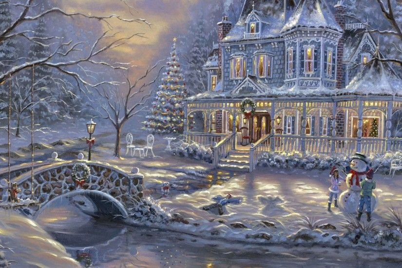 Victorian Christmas - Other & Abstract Background Wallpapers on .