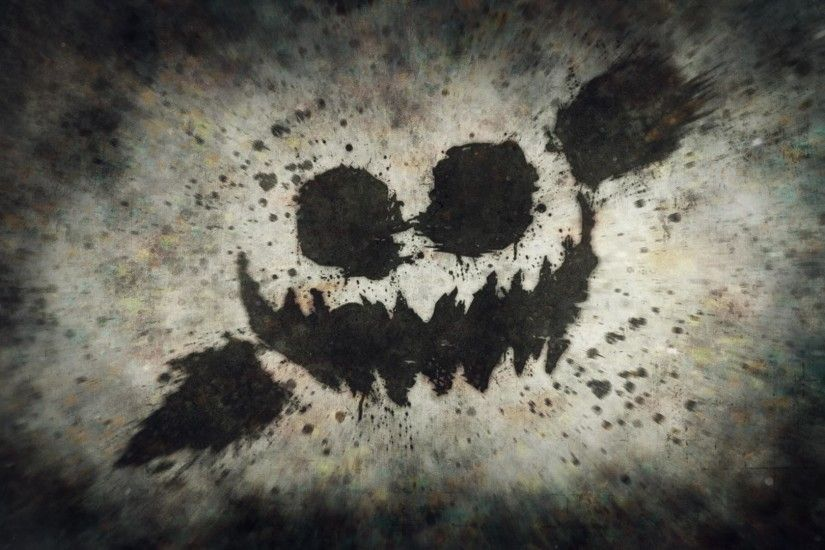 Creepy Face Halloween Wallpaper