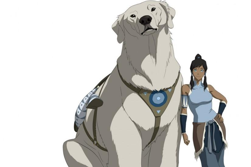 Preview wallpaper avatar, the legend of korra, naga, korra 2560x1080