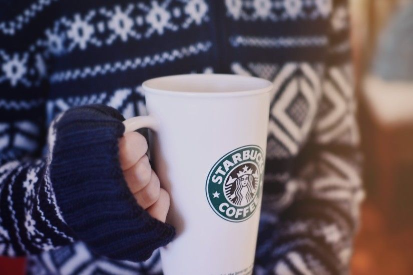 starbucks glass hand sweater