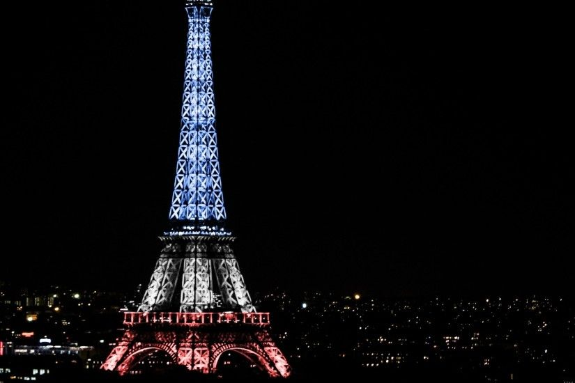 Preview wallpaper eiffel tower, paris, france, night 1920x1080