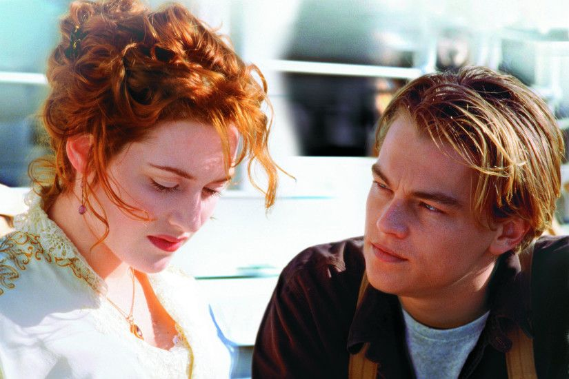 Rose DeWitt Bukater and Jack Dawson, as portrayed by Kate Winslet and  Leonardo DiCaprio in Titanic