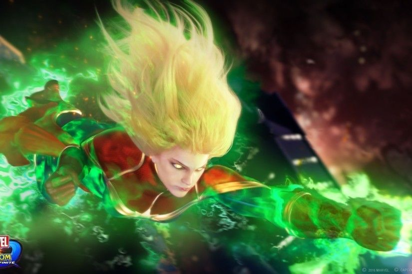 Video Game - Marvel vs. Capcom: Infinite Captain Marvel Wallpaper