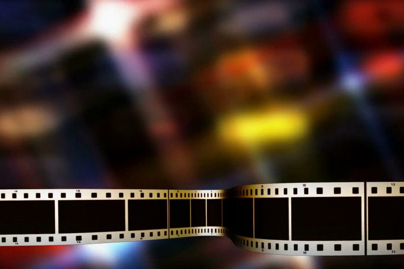 Filmstrip in lower thirds with colorful panel background Motion Background  - VideoBlocks