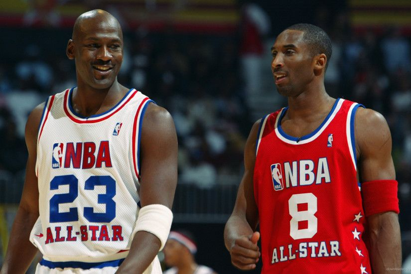 HD Kobe Bryant With Michael Jordan wallpaper