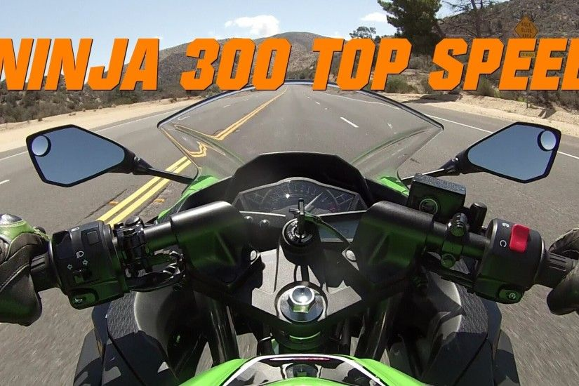 Kawasaki Ninja 300 TOP SPEED - Ninja 300 Top Speed w/ Two Brothers exhaust  - YouTube