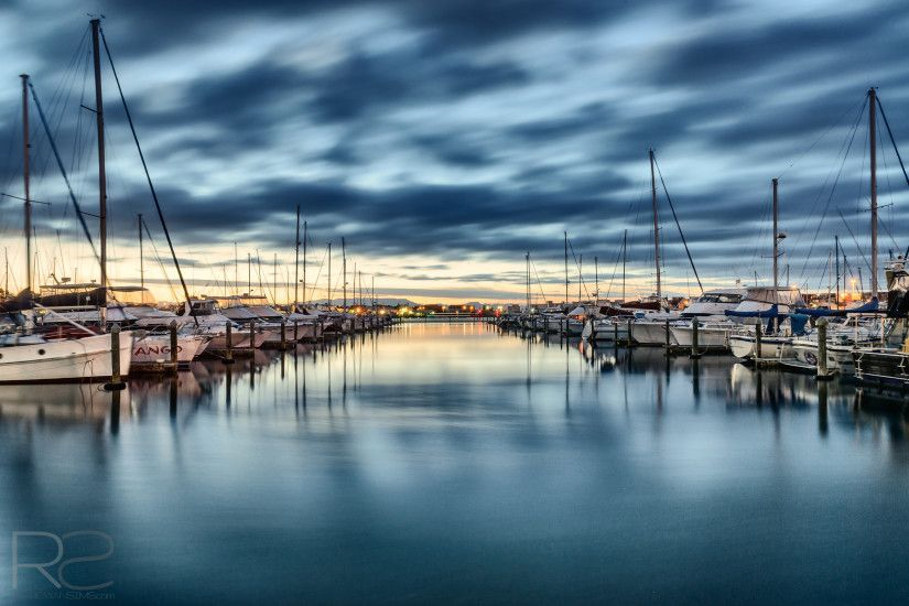 Landscape photo of boats in Tauranga Bridge Marina, Mount Maunganui