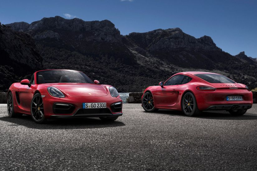 2015 Porsche Cayman GTS and Porsche Boxster GTS - Wallpaper