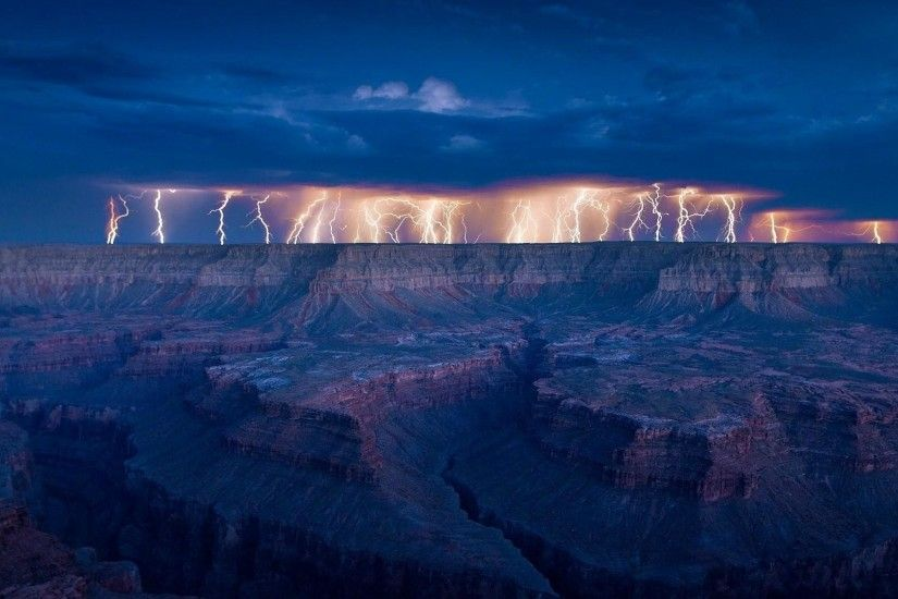 wallpaper.wiki-Lightning-storm-over-the-Grand-Canyon-