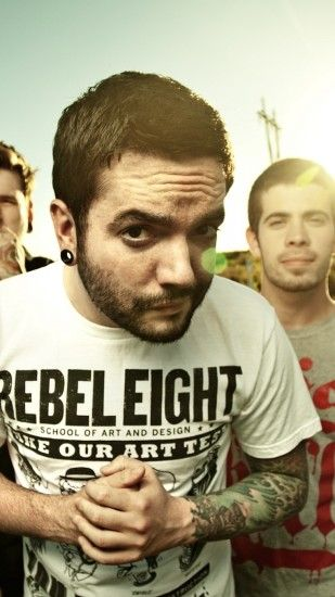 1080x1920 Wallpaper a day to remember, sky, sun, tattoo, t-shirts