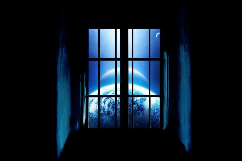 Awesome Window Planet View Wallpaper HD #3858 Wallpaper .