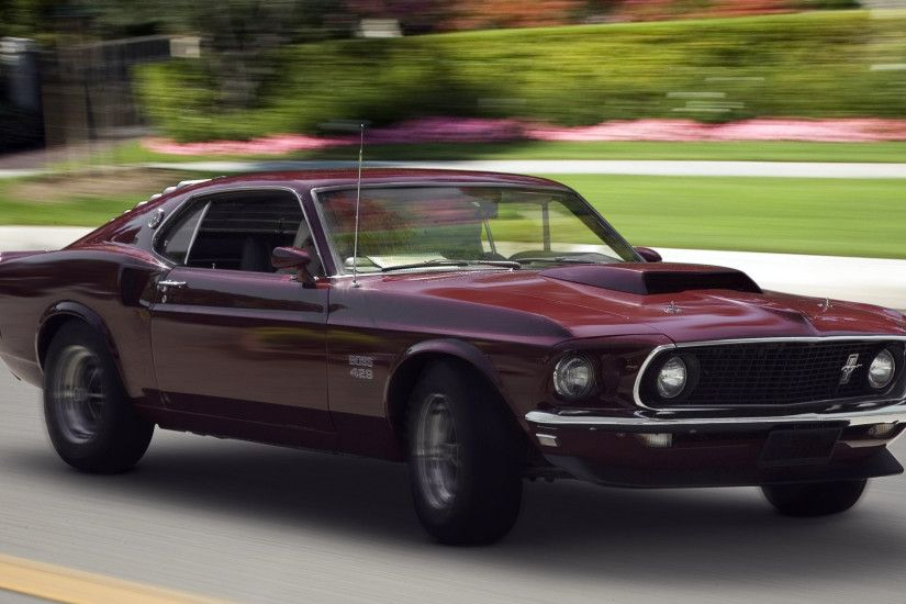 Preview wallpaper muscle car, 1969, ford boss, 429, mustang, fastback  1920x1080
