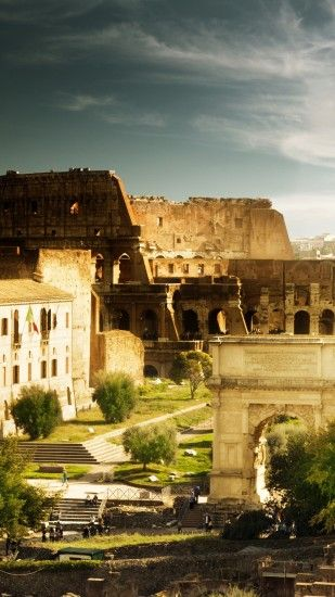 1440x2560 Wallpaper colosseum, rome, italy, architecture, home, arch of  constantine,