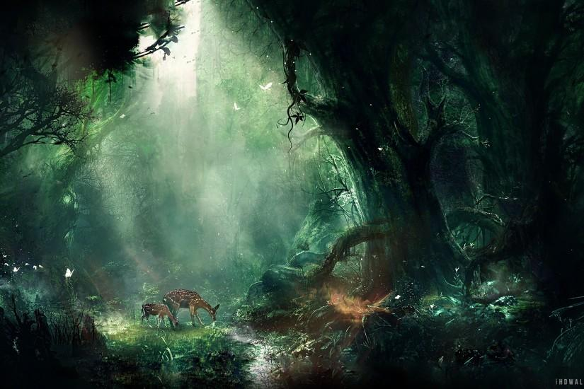 Fantasy Forest HD Wallpaper - iHD Wallpapers