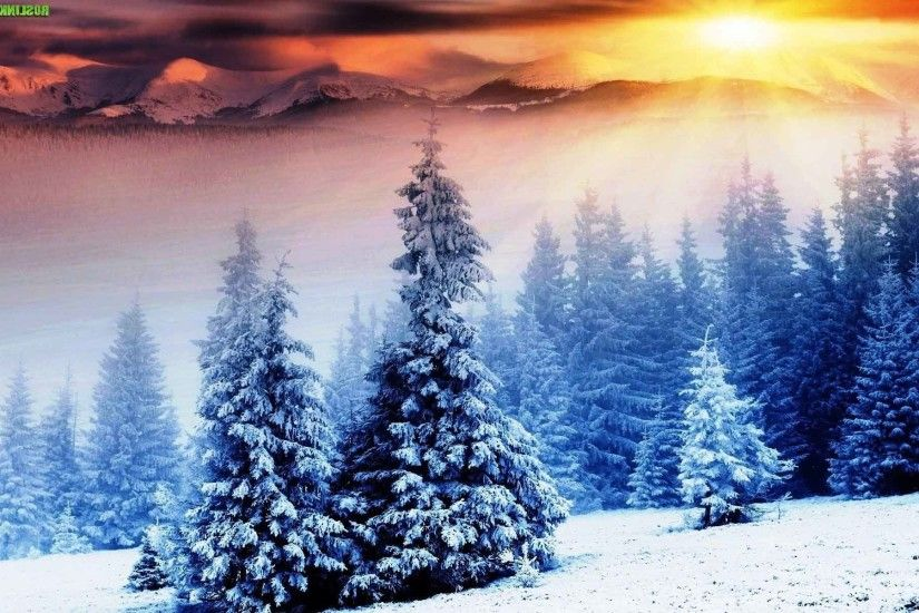 Sunrise Sunset Snow Nature Landscape Winter Wallpaper Download Free High  Resolution