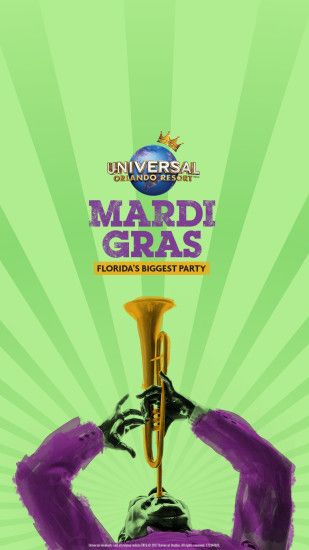 Celebrate Universal's Mardi Gras with Four New Wallpapers