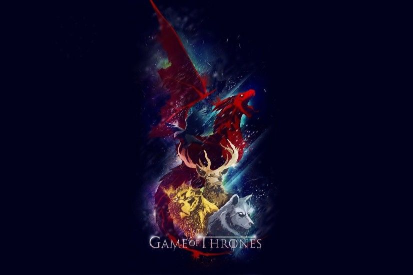 Artwork Deer Dragons Game Of Thrones House Baratheon Lannister Stark  Targaryen Lions TV Series Wolves ...