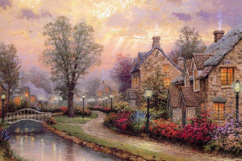 Thomas Kinkade Winter Wallpapers Wallpaper