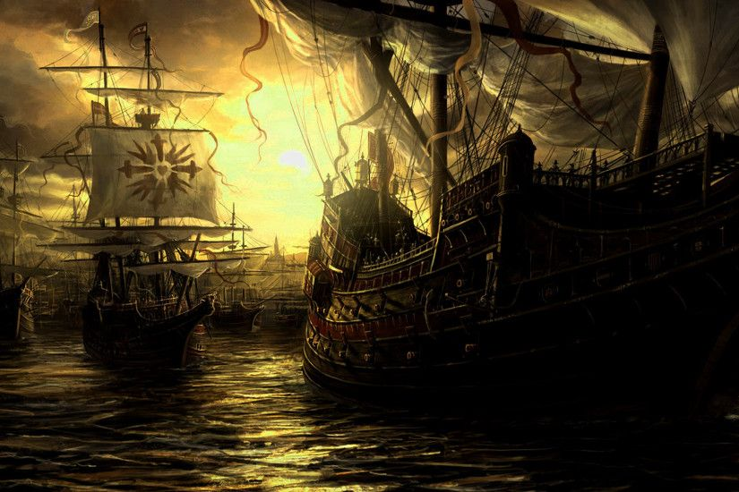 Epic Fantasy Wallpaper High Quality Resolution · Ghost ShipSailing ...