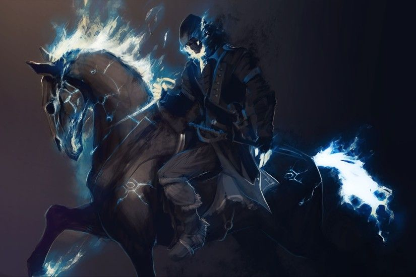 Blue Ghost Rider Wallpaper