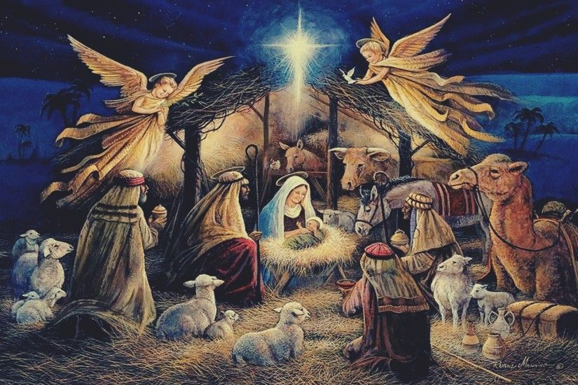 Nativity Scene Wallpaper ·① WallpaperTag