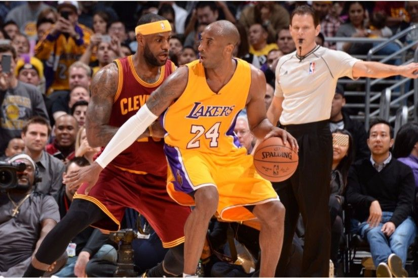 Lebron James vs La Lakers Kobe Bryant 4K Wallpaper