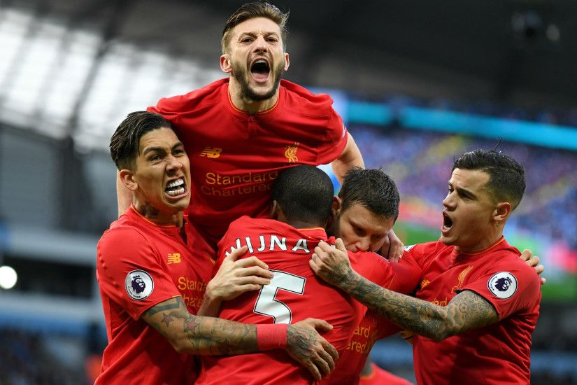 HD Liverpool celebrate v Man City