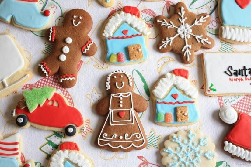 Cute Assorted Holiday Christmas Cookies Wallpaper Screensaver For .