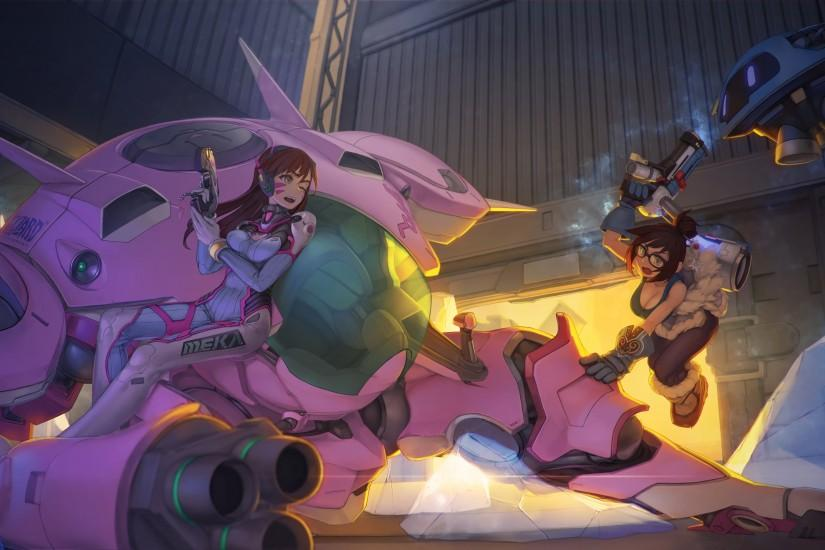 D.Va VS Mei HD Wallpaper From Gallsource.com
