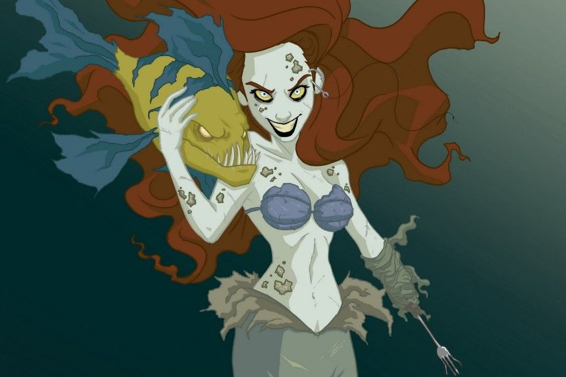 wallpaper dark · The Little Mermaid