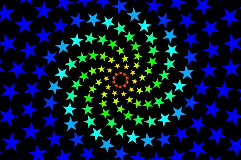Pulsing Fibonacci Colorful Spiral Stars Pattern Motion Background Loop 1  Motion Background - VideoBlocks