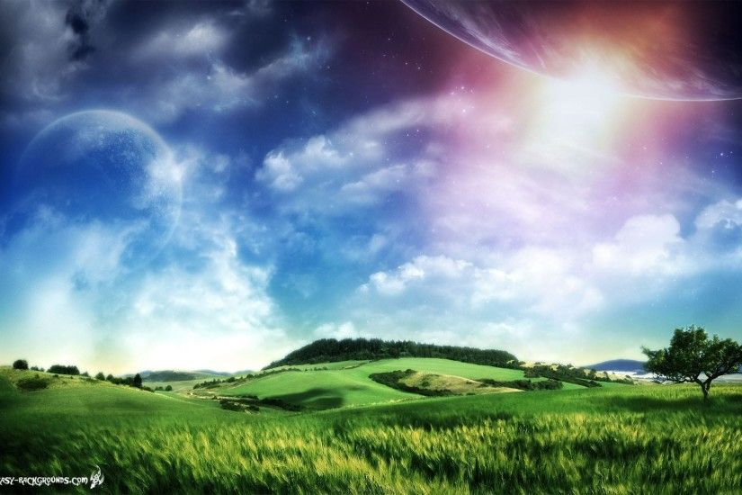 Wallpapers Backgrounds - Nature cool fantasy earth wallpapers above  background