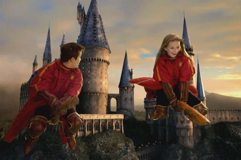 Flying by Broomstick wallpaper - Click picture for high resolution HD  wallpaper