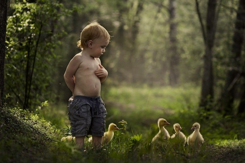 Mood malchik summer duck baby bird child children cute wallpaper |  1920x1200 | 433474 | WallpaperUP