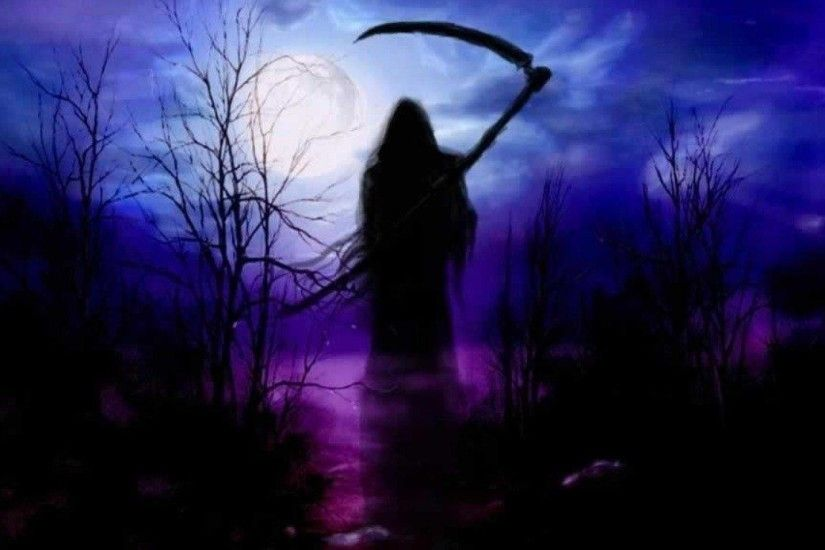 Wallpapers For > Dark Grim Reaper Wallpaper Purple