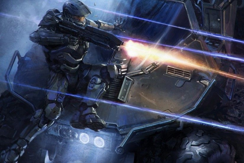 Video Game - Halo 4 Vehicle Weapon Gun Warrior Sci Fi Halo Video Game  Wallpaper