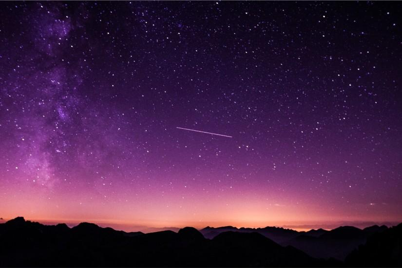 night sky wallpaper 2569x1634 laptop