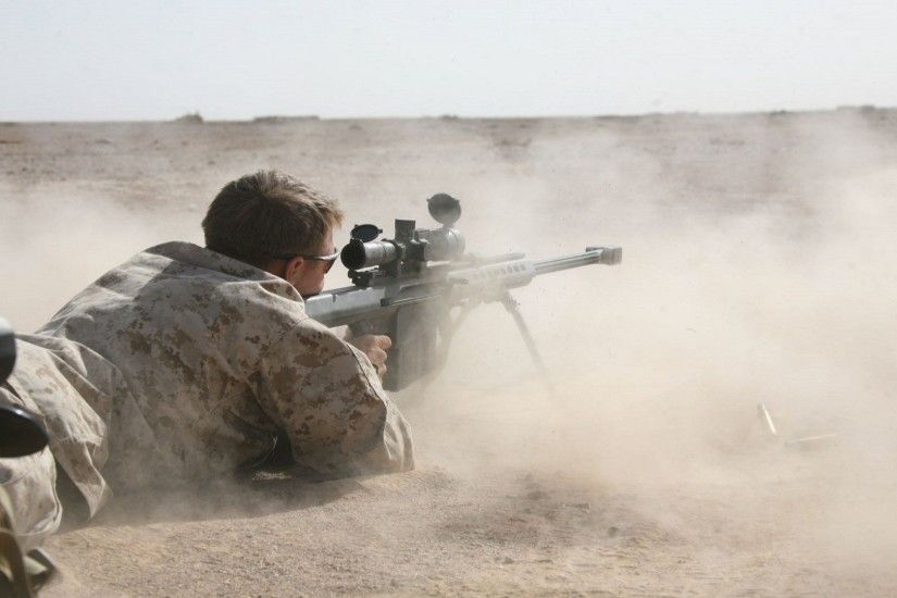 sniper Rifle, Soldier, Desert, Barrett .50 Cal Wallpapers HD / Desktop and  Mobile Backgrounds