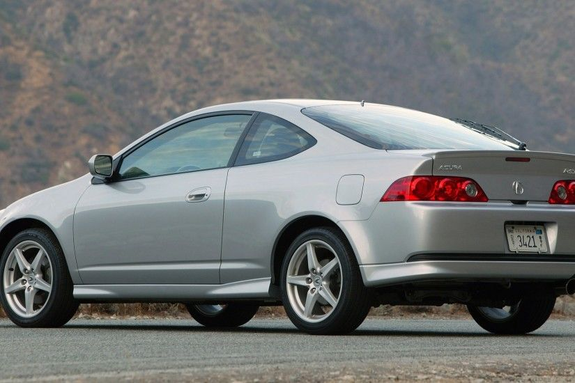 1920x1080 Wallpaper acura, rsx, metallic gray, side view, style, cars,