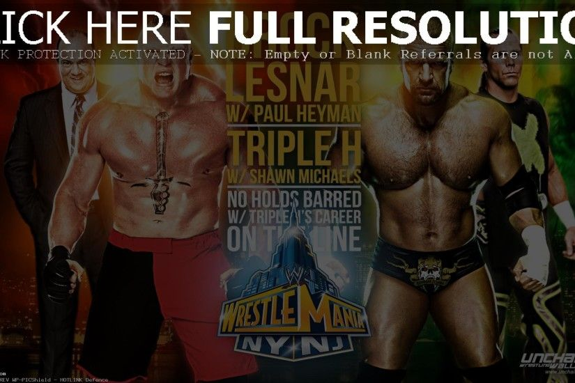 Wwe Wrestlemania 29 Triple H Vs Brock Lesnar No Holds Barred (id: 179709)