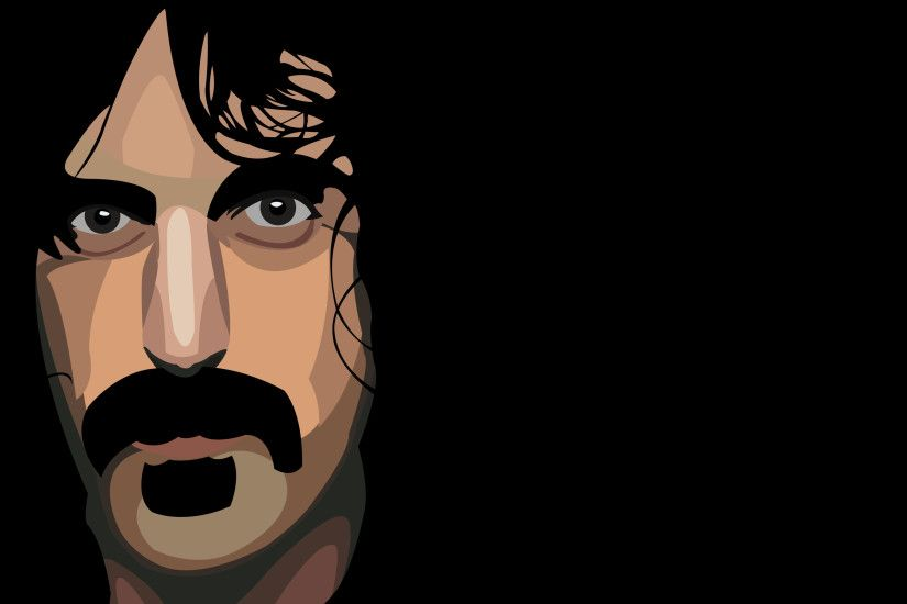 It's Frank Zappa Day! So I drew this wallpaper in Photoshop.