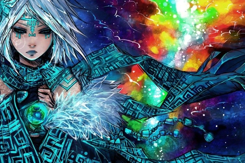 tribal mage hd anime wallpaper