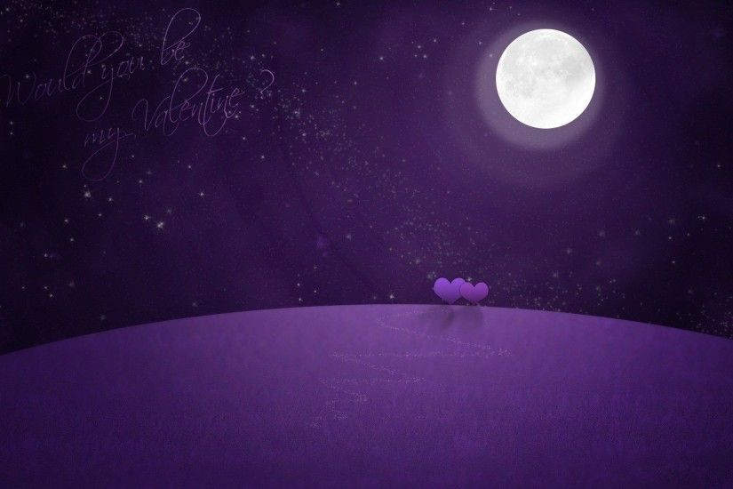 Valentines Day Purple Violet Moon Art Design Background Wallpaper. interior  room design. interior design ...